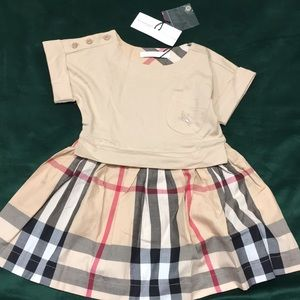 Burberry girl 3 years old dress plaid check